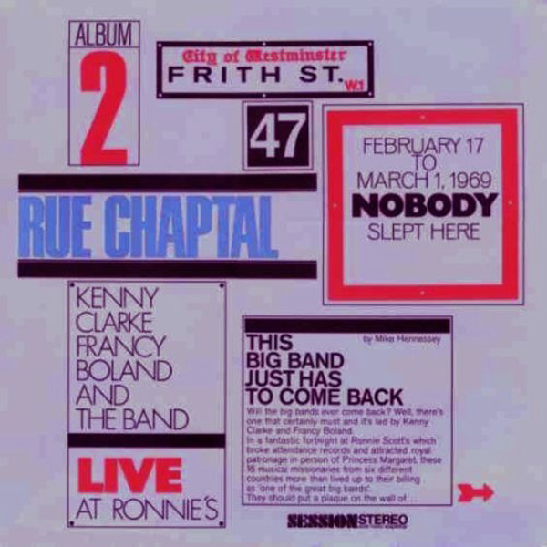 Kenny Clarke-Francy Boland Big Band, The ‎– Live At Ronnie's ; Album 2 ; Rue Chaptal