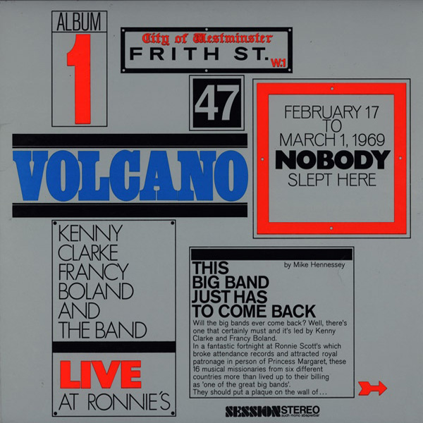 Kenny Clarke-Francy Boland Big Band, The ‎– Live At Ronnie's  Album 1 Volcano