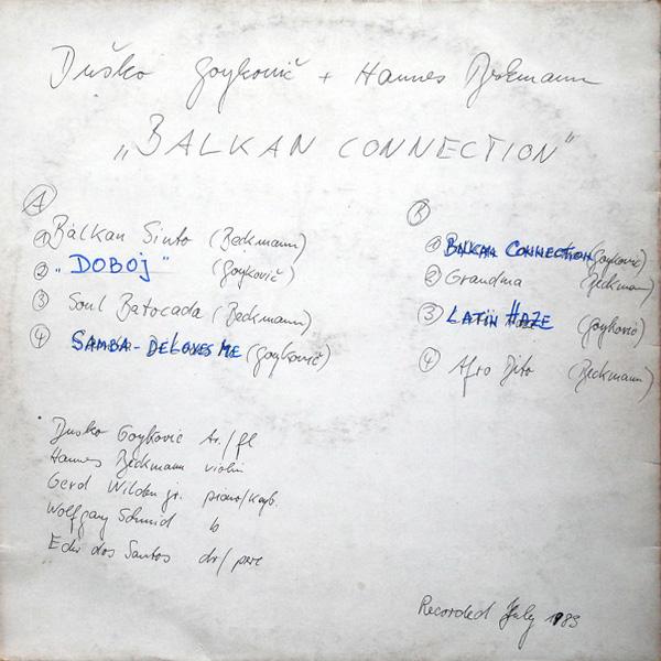Dusko Goykovich & Hannes Beckmann Balkan Connection